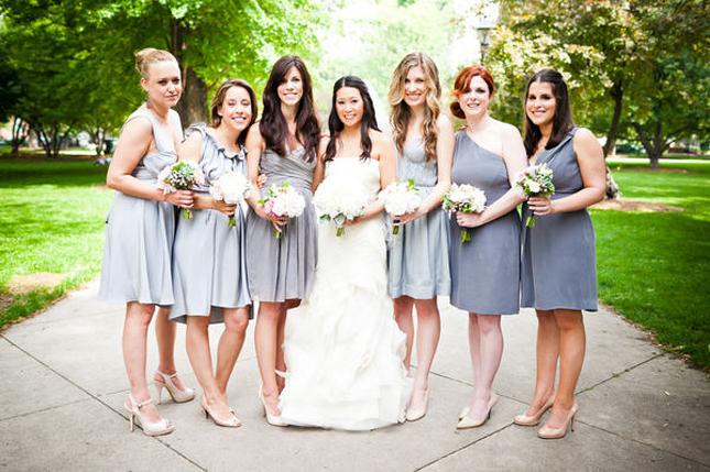 Mismatched Bridesmaid Dresses | weddingswithyesenia